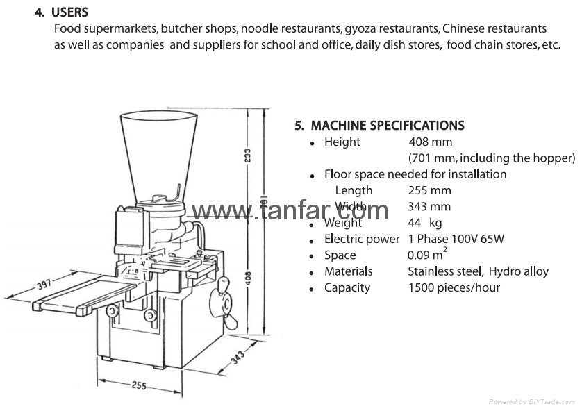 Small Size Dumpling Making Machine 4