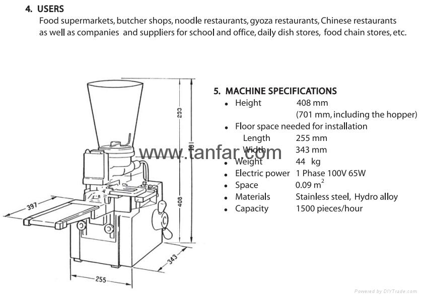Small Size Dumpling Making Machine 4