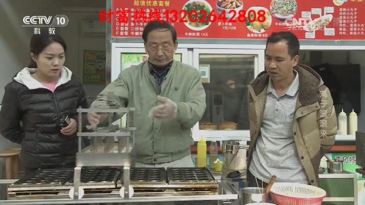 自动滚圆章鱼丸烧烤机