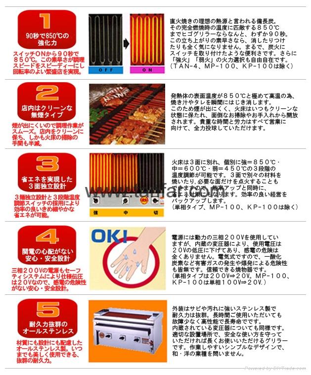 日本電加熱式燒烤機 燒烤爐 串燒機 3P-210C 12