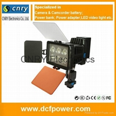 LED-5010A Charger + Battery + 15W LED Video Light Lamp for Camera DV Camcorder L