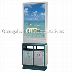 Outdoor Advertising waste collection bin classification street recycle bin