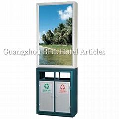 Light Box Outdoor Advertising waste collection bin street litter recycling bin