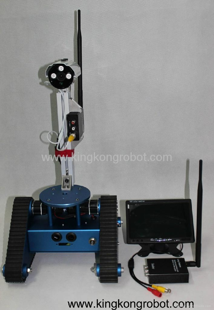 KR0005 RC Tri-Tracked Tank Mobile Robot Kit with Camera ...