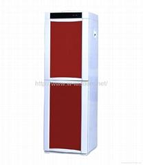 Double door water dispenser with cabinet