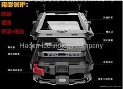 for iphone 4 4s Aluminum Metal Waterproof slim armor Lunatik Taktik case