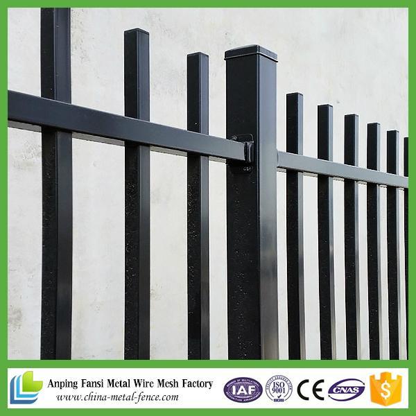 Black Polyester Painting Tubular Steel Fence Gates Design Valla De