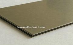 Brushed aluminum composite panel