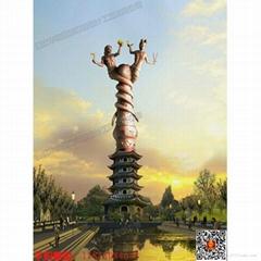 伏羲女媧雕塑