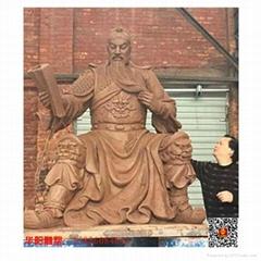 三國人物雕塑