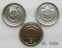 Clear tin eoe for canned#209