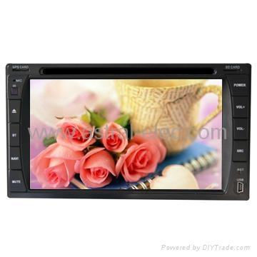 Chinese 6.2 inch HD touch car gps navigator Universal 2 Din DVD/GPS 1