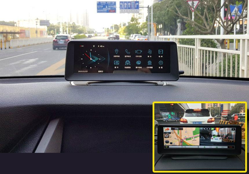 On Dash Car GPS Dvr OEM with Navigation Monitor SD Bluetooth 1