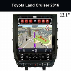 Central Multimedia Player OEM 12.1 Inch Android Kit Kat Toyota Land Cruiser 2016
