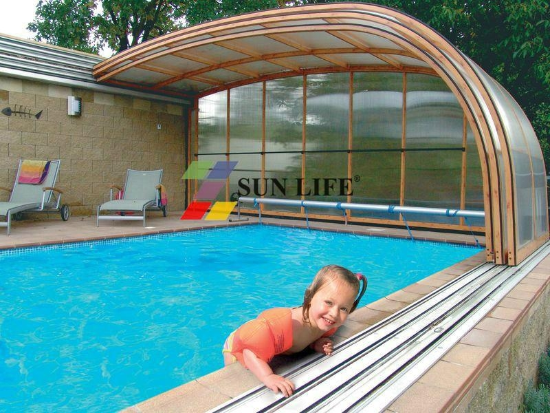 Retractable Side Wall Swimming Pool Enclosures Sl 02 Sun Life China Manufacturer Shaped