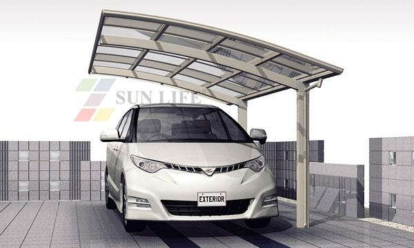 modern Single Aluminum carport  1