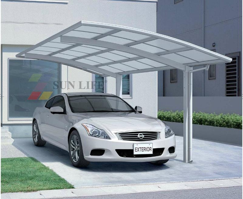 modern Single Aluminum carport  2