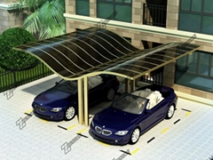 Elegant appearance  aluminium carports with polycarbonate sheet