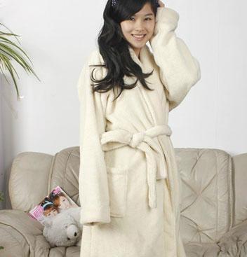 5e30534d64 Ladies Coral Fleece Robe Off white-1 - S castle (China Manufacturer ...