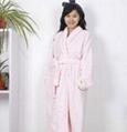 Ladies Coral Fleece Robe Pink