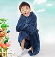 kids coral fleece bathrobe