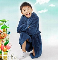 kids coral fleece bathrobe
