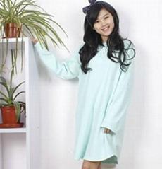 women polar fleece bathrobe