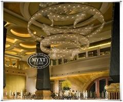 五星級酒店大堂現代水晶吊燈