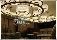 酒店中式餐廳水晶吊燈
