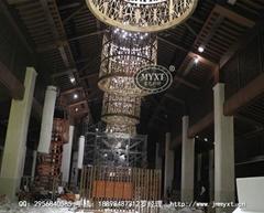 星級酒店大堂工程鳥籠燈