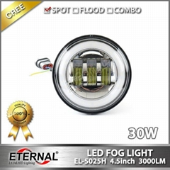 "Jeep JK 07-15 LED fog light 3.5"" universal offroad Ford 4x4 fog lamp"
