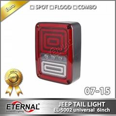 Offroad Jeep Wrangler Rubicon LED tail light run turn reverse brake light JK 07-