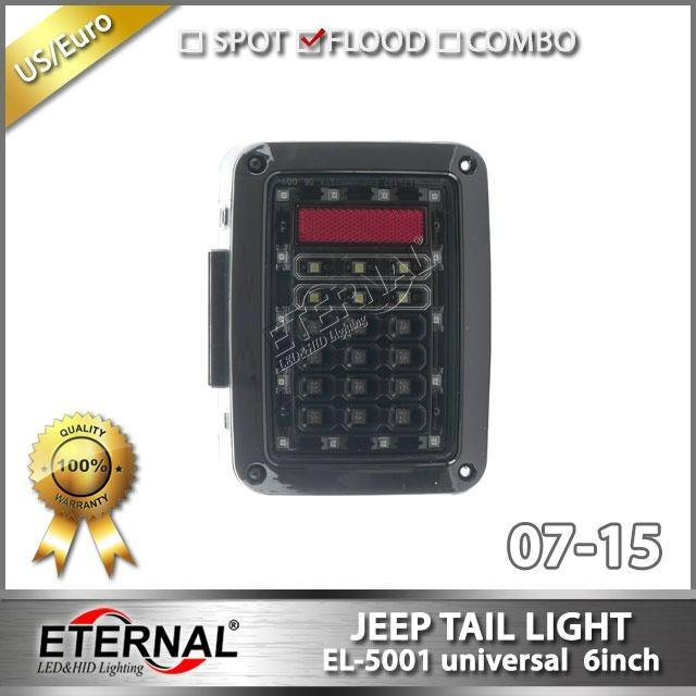 Offroad Jeep Wrangler Rubicon LED tail light run turn reverse brake light JK 07- 2