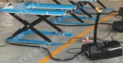 帶安全擋條超低U型電動昇降平台