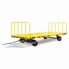 供應載重5噸前後帶護欄的泰得力平板拖車可定製