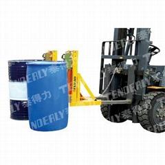 双桶单鹰嘴DR720A叼扣式叉车专用油桶夹