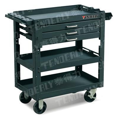 泰得力车间工位专用带抽屉的可移动钢制工具推车  1
