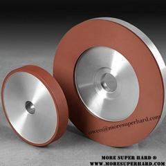 Resin diamond grinding wheel for glass grinding