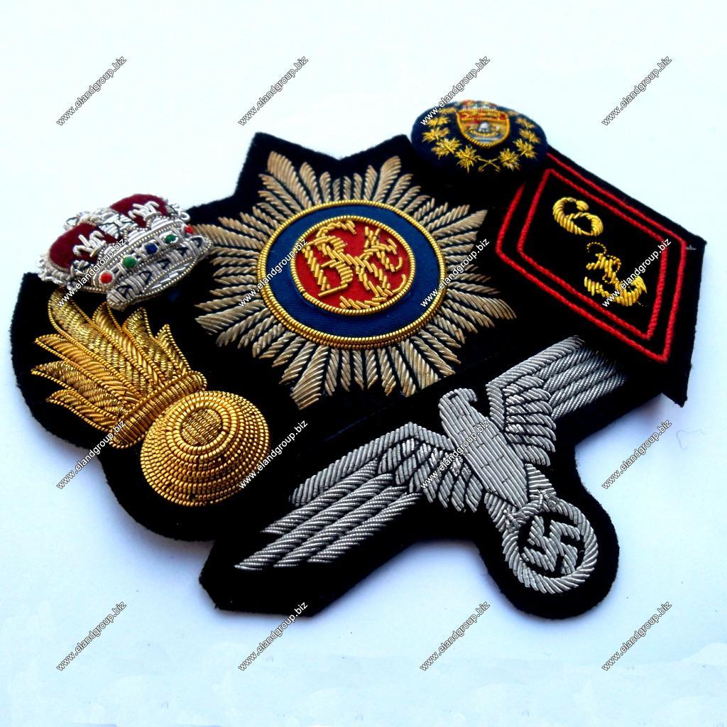 Bullion Badges | Hand MadeEmbroidery Bullion Badge - ELG-006
