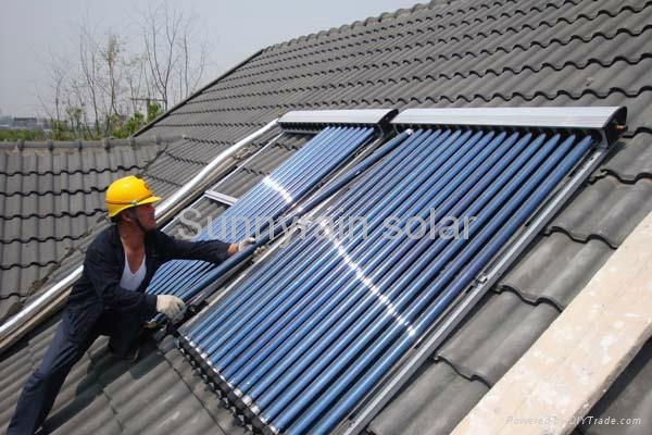 Sunnyrain solar collector with heat pipe(15tube) 2