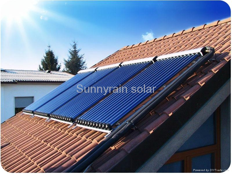 Sunnyrain solar collector with heat pipe(15tube) 1