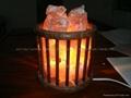 Természetes étkezési só, só cserép, só lámpa
