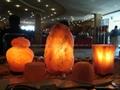 Doğal tuz lambası, tuz sauna, tuz odası ve yemeklik tuz