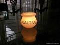 Fancy Rock Salt Candle holder 10