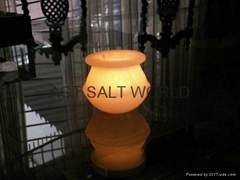 Fancy Rock Salt Candle holder 10