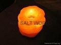 Fancy Rock Salt Candle holder 11