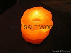 Fancy Rock Salt Candle holder 11