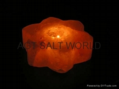 Fancy Rock Salt Candle holder 13