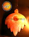 Fancy Rock Salt Candle Holder 1
