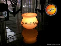 Fancy Rock Salt Candle Holder